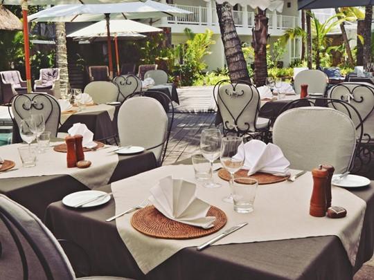 Le restaurant La Voile de l'hôtel 20 Degrés Sud