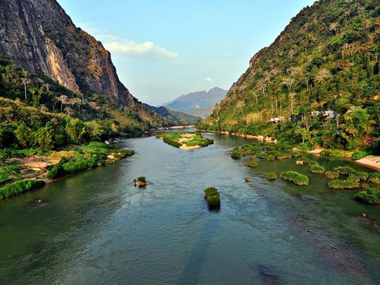 Vue du fameux Mékong, le dixième fleuve du monde