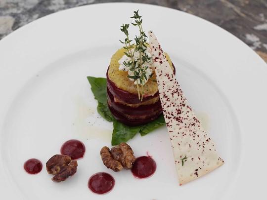Plat gastronomique de l'hôtel Alila Jabal Akhdar