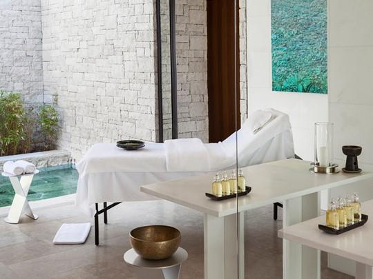Le spa de l'hôtel 5 étoiles Amanzoé en Péloponnèse