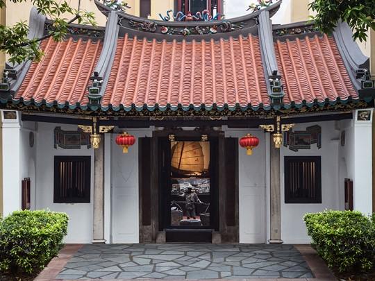 La façade de l'hôtel AMOY situé au coeur de Singapour