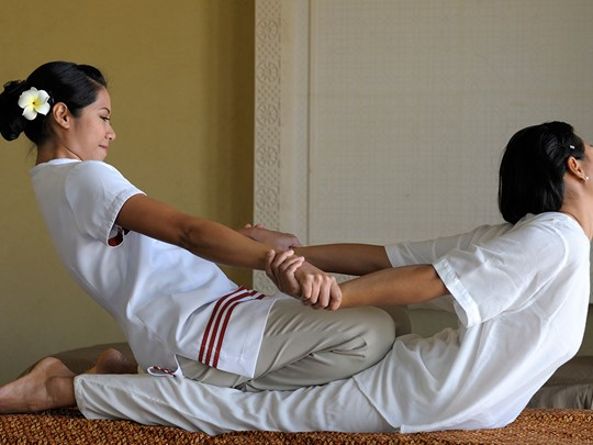 Massage relaxant au Spa