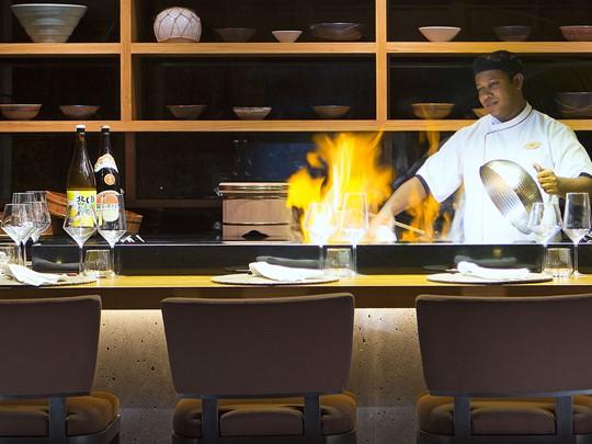 Démonstration culinaire au restaurant Origami