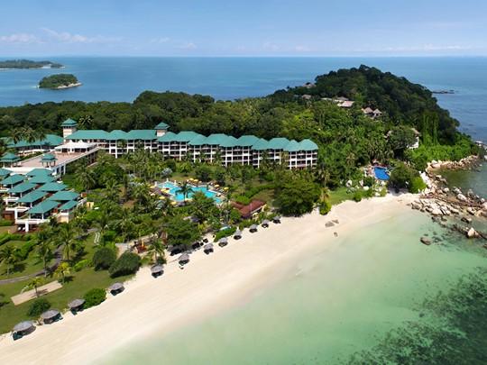 Vue aérienne de l'hôtel Angsana Resort & Spa