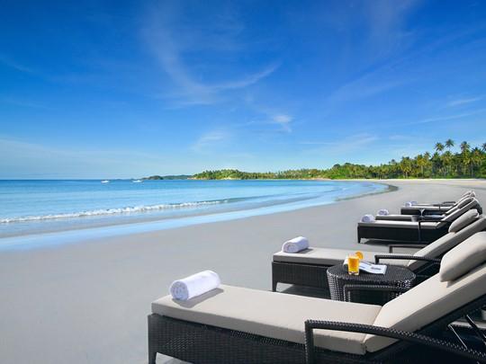 Autre vue de la plage de l'Angsana Resort & Spa