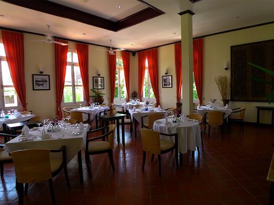 Restaurant La Signature de l'Ansara Hotel situé au Laos