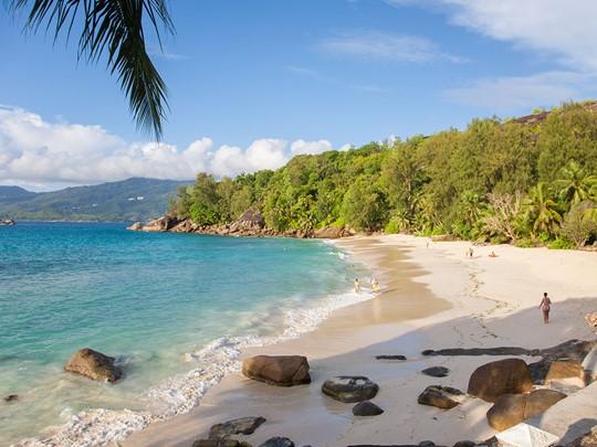 La plage de l'Anse Soleil Beachcomber à Mahé
