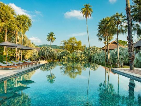 Le cadre magnifique de l'hôtel The Slate à Phuket
