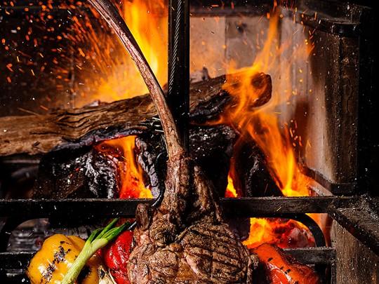 Tomahawk steak de l'hôtel Banyan Tree Mayakoba