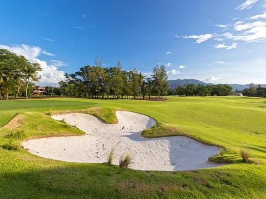 Le superbe parcours de golf