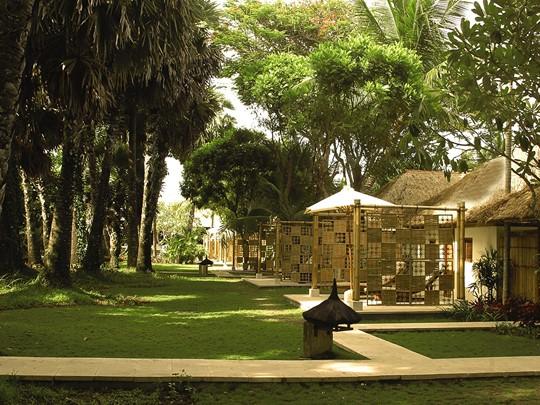 Jardin de l'hôtel Belmond Jimbaran à Bali