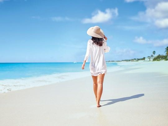 Balade sur la plage immaculée