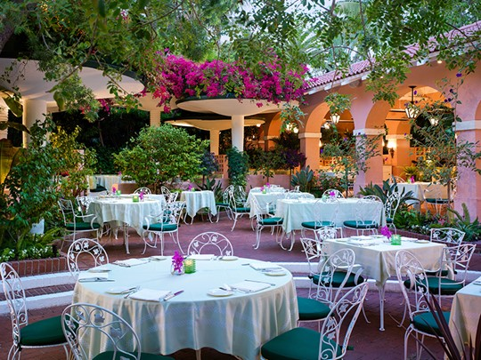 Le restaurant Polo Patio de l'hôtel Beverly Hills