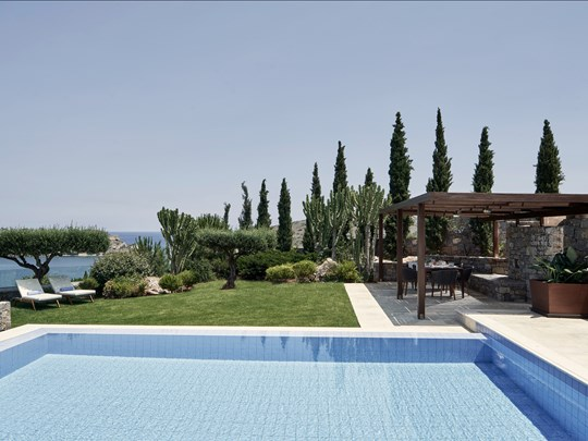 3 Bedroom Royal Blue Villa Sea View Private Heated Pool