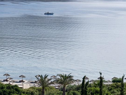 Splendide vue sur la mer Egée depuis le Blue Palace