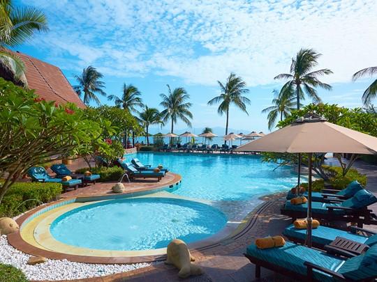 La piscine du Bo Phut Resort & Spa situé sur l'île de Koh Samui