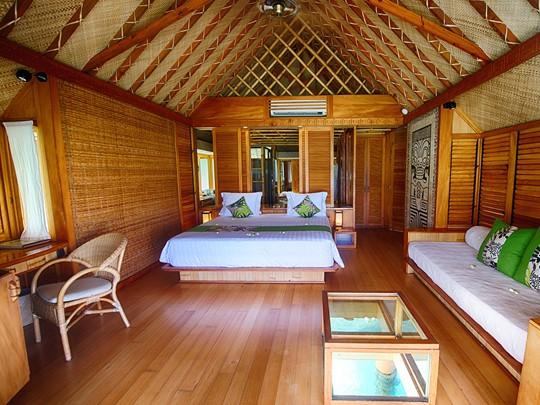 Bungalow Pilotis du Bora Bora Pearl Beach Resort en Polynésie