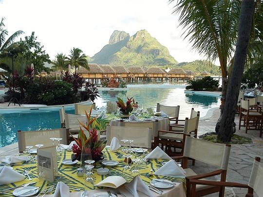 Restaurant Miki Miki de l'hôtel Pearl Beach Resort de Bora Bora