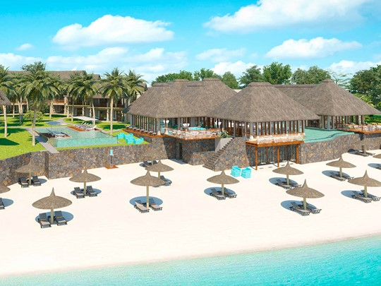 Vue de l'hôtel C Mauritius situé à Palmar