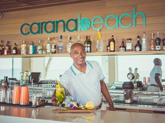 Le bar du Carana Beach Chalet aux Seychelles
