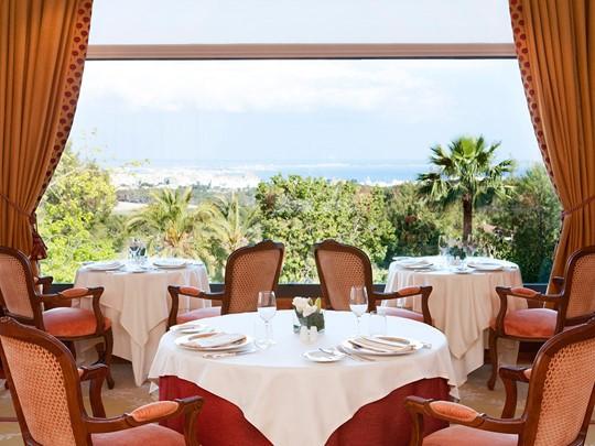 Restaurant Es Castell de l'hôtel Castillo à Majorque