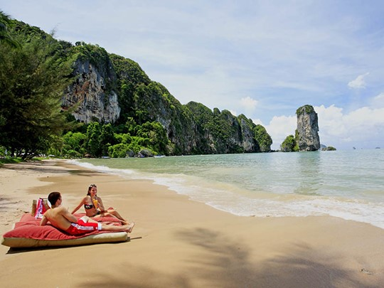 La plage du Centara Grand Beach Resort & Villas Krabi