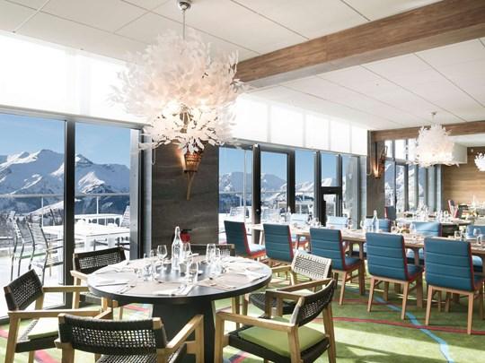 Une incroyable vue depuis les Alpages Gourmet Lounge