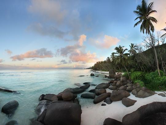 La plage immaculée de l'île Silhouette