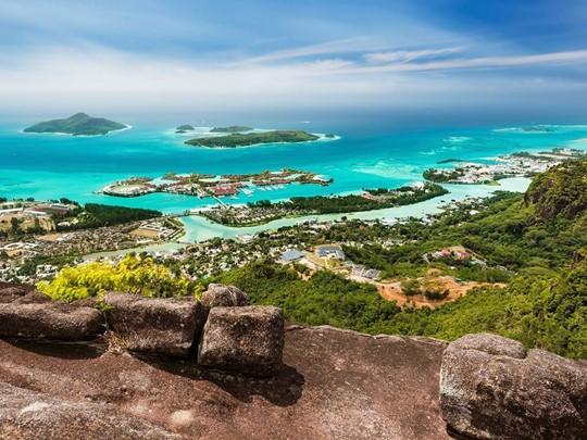 Victoria, la capitale des Seychelles, sur l'île de Mahé