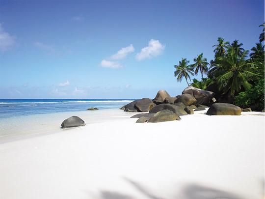 La superbe plage de Labriz à Silhouette