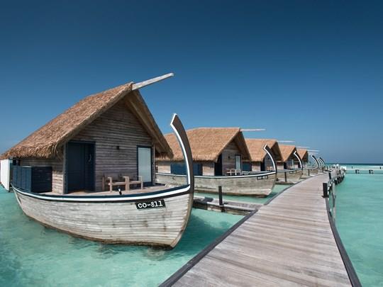 Vue des Dhoni Water Villas