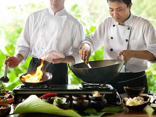 Cours de cuisine à l'hôtel Uma by Como à Ubud