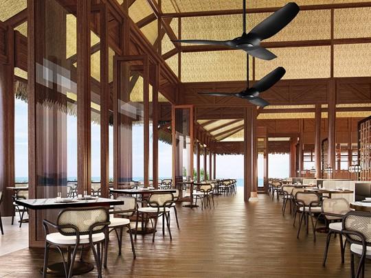 Restaurant du Conrad Bora Bora Nui en Polynésie