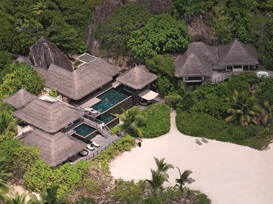 Vue aérienne de la villa présidentielle