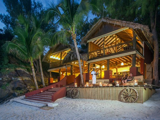 Le restaurant du Constance Tsarabanjina à Madagascar