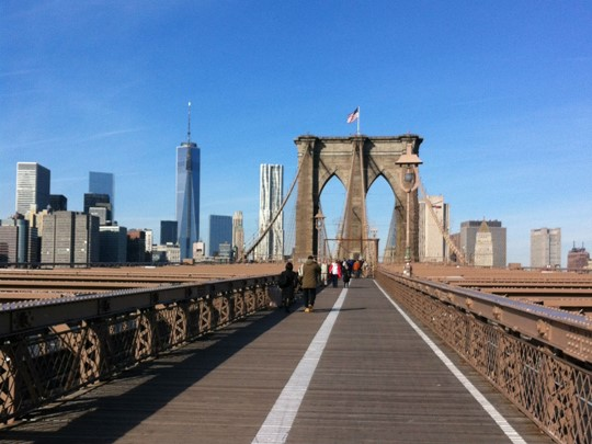 Brookyln Bridge, un incontournable lors d'un voyage à New York
