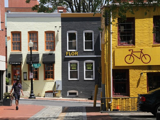 Le quartier coloré et animé de Georgetown, à Washington