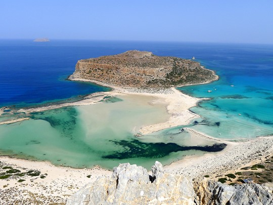 Profitez de votre journée pour découvrir la superbe plage de Balos