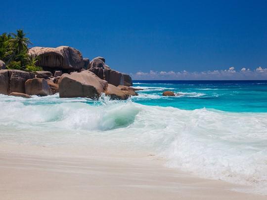 L'île privée Grande Soeur, est la plus belle île et plage des Seychelles