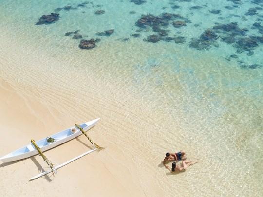La plage immaculée de Moorea