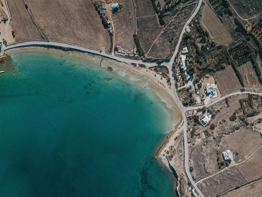 Vue aérienne de Paros