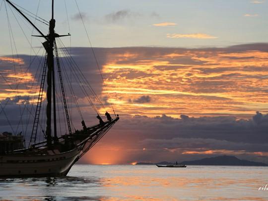 Le coucher de soleil depuis le Silolona