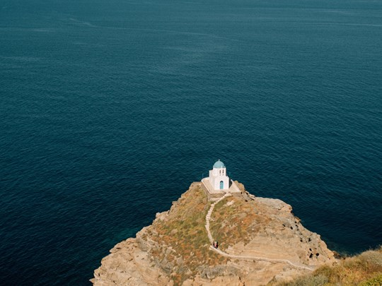 Petite église des 7 martyrs sur l'île Sifnos