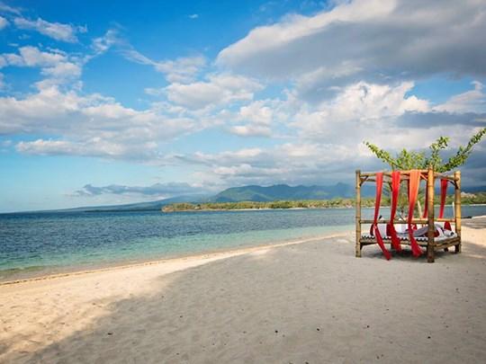 Flânez au bord de la plage du Lombok
