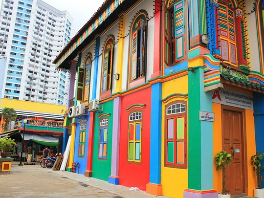 Le quartier de Little India à Singapour