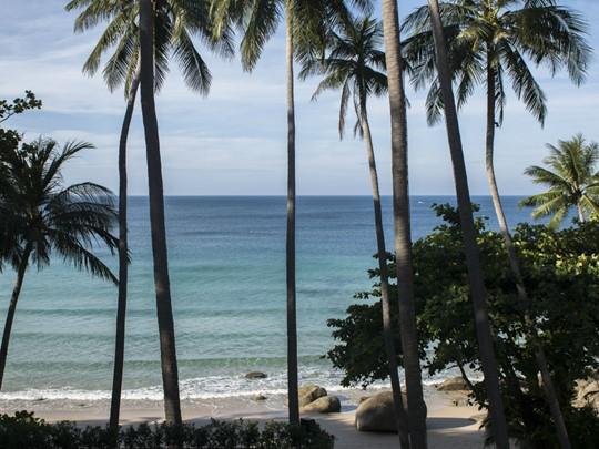 La plage de l'Amanpuri à Phuket