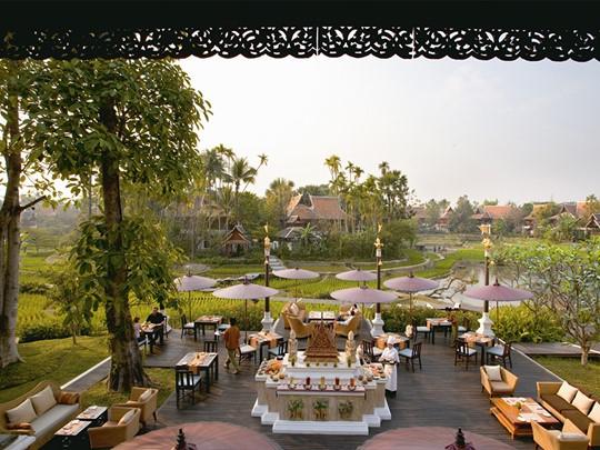 Restaurant Rice Terrace du Dhara Dhevi en Thailande