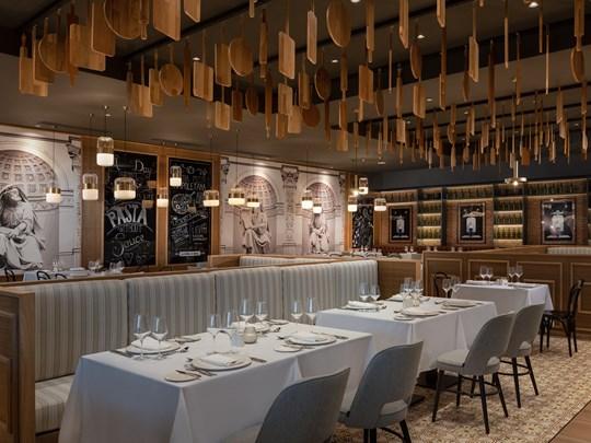 Cuisine italienne gastronomique au restaurant Portofino