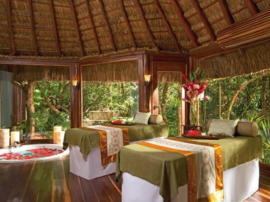 Le spa de l'hôtel 4 étoiles Dreams Tulum au Mexique
