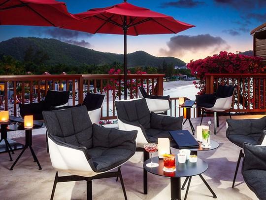 Le restaurant On The Rocks de l'Eden Rock St Barth